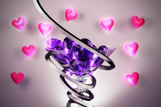 Glass Hearts - Obrázkek zdarma pro LG P970 Optimus