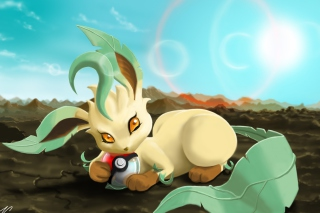Leafeon Pokemon Background for Android, iPhone and iPad