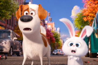 The Secret Life of Pets, Max and Snowball - Obrázkek zdarma pro Motorola DROID 3