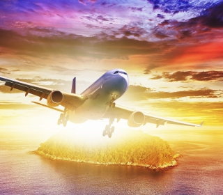 Plane Take off - Obrázkek zdarma pro 1024x1024