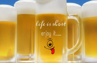 Life is short - enjoy it - Obrázkek zdarma pro LG P970 Optimus