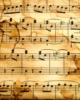 Musical Notes - Obrázkek zdarma pro 320x480