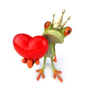 Frog Love - Obrázkek zdarma pro iPad mini 2