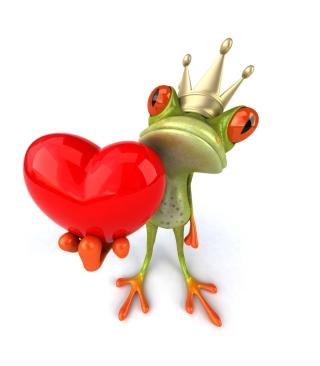 Frog Love - Obrázkek zdarma pro iPhone 6