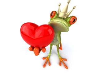 Frog Love Background for Android, iPhone and iPad