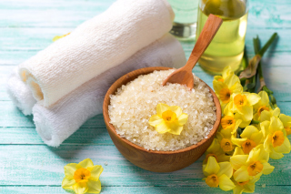 Spa with Dead Sea Salt Background for Android, iPhone and iPad