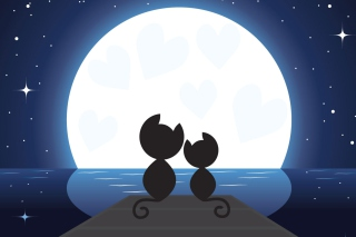 Cats In Love Background for Android, iPhone and iPad