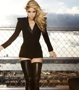 Shakira Tigh High Black Boots - Obrázkek zdarma pro 360x640