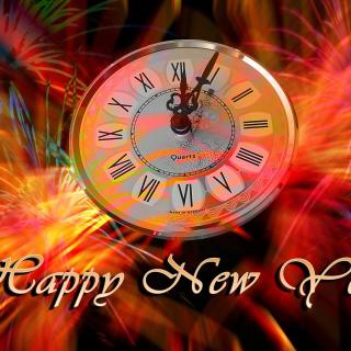 Happy New Year Clock - Obrázkek zdarma pro 320x320