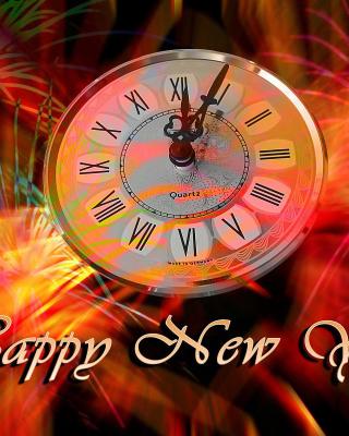 Happy New Year Clock - Obrázkek zdarma pro 320x480