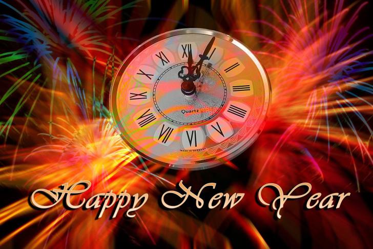 Happy New Year Clock wallpaper