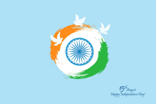 15th August Indian Independence Day - Obrázkek zdarma pro Desktop Netbook 1366x768 HD