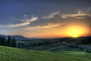 Sunset In Tuscany Picture for Android, iPhone and iPad