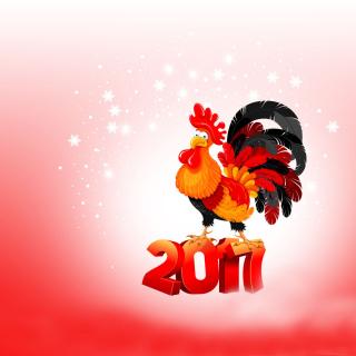 2017 New Year of Cock - Obrázkek zdarma pro 128x128