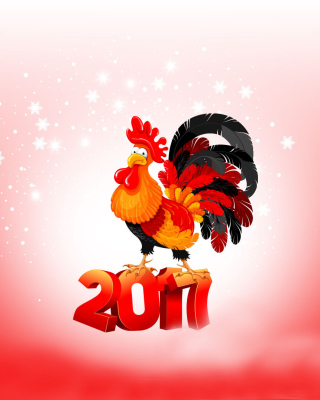 2017 New Year of Cock - Obrázkek zdarma pro Nokia Asha 303