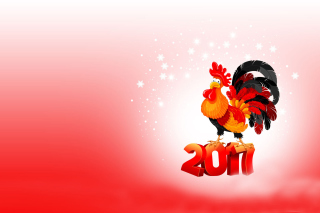2017 New Year of Cock - Obrázkek zdarma pro Android 1200x1024