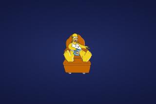 Homer Simpsons - Obrázkek zdarma pro Nokia Asha 302
