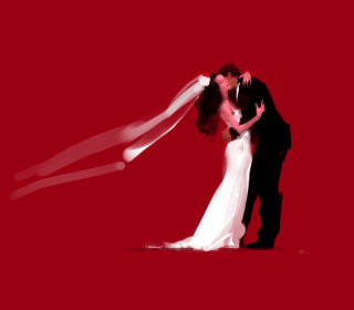 Bride And Groom Hug - Obrázkek zdarma pro iPad