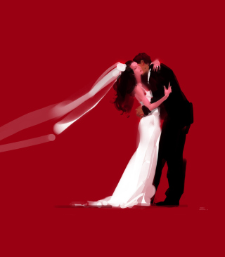 Bride And Groom Hug - Obrázkek zdarma pro iPhone 5S