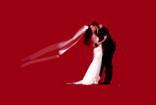 Bride And Groom Hug - Obrázkek zdarma pro 1440x1280