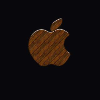 Apple Wooden Logo - Obrázkek zdarma pro iPad 3