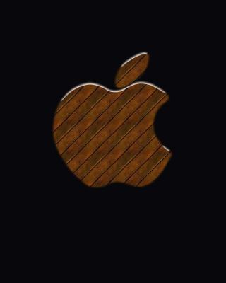 Apple Wooden Logo - Obrázkek zdarma pro Nokia 300 Asha
