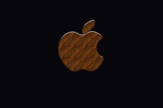 Apple Wooden Logo - Obrázkek zdarma pro Fullscreen Desktop 1280x960
