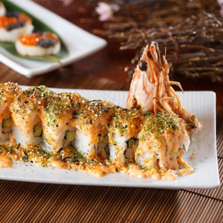 Sushi with shrimp - Obrázkek zdarma pro iPad mini
