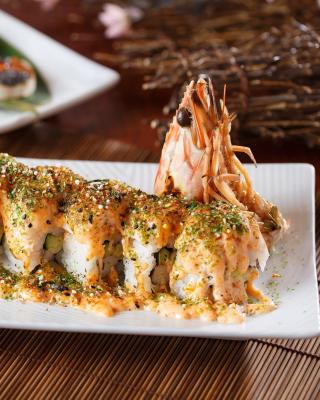 Sushi with shrimp - Obrázkek zdarma pro 352x416