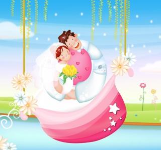 The Couple Love Boat - Obrázkek zdarma pro 1024x1024