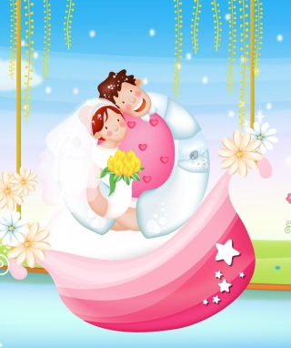 The Couple Love Boat - Obrázkek zdarma pro iPhone 5C