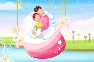 The Couple Love Boat - Obrázkek zdarma pro 1024x600