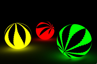 Free Neon Weed Balls Picture for Android, iPhone and iPad