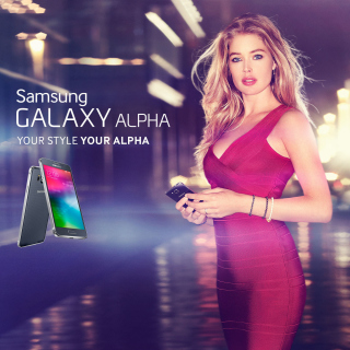 Samsung Galaxy Alpha Advertisement with Doutzen Kroes - Obrázkek zdarma pro 1024x1024
