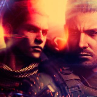 Resident Evil 6, Chris Redfield & Piers Nivans - Obrázkek zdarma pro 320x320