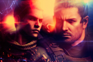 Resident Evil 6, Chris Redfield & Piers Nivans - Obrázkek zdarma pro Motorola DROID