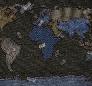Jeans World Map - Obrázkek zdarma pro 1024x1024