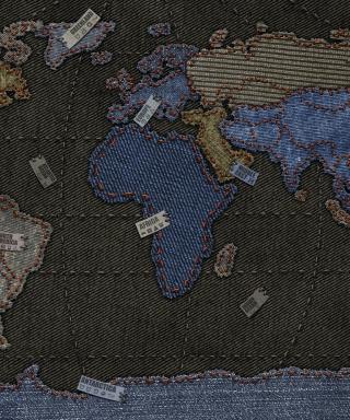 Jeans World Map - Obrázkek zdarma pro 240x320