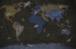 Free Jeans World Map Picture for Android, iPhone and iPad