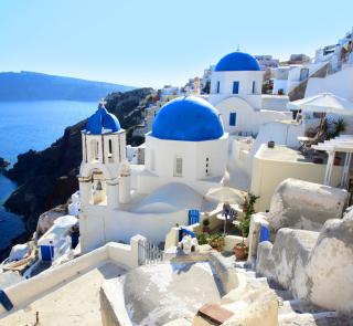 Greece, Santorini - Obrázkek zdarma pro 128x128