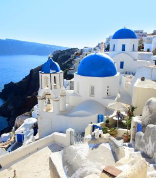 Greece, Santorini - Obrázkek zdarma pro Nokia Asha 203