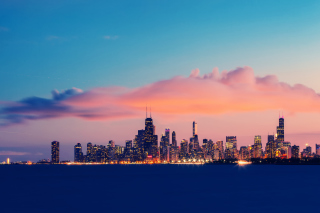 USA Illinois Chicago Lake Michigan Background for Android, iPhone and iPad