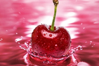Red Cherry Splash Wallpaper for Android, iPhone and iPad