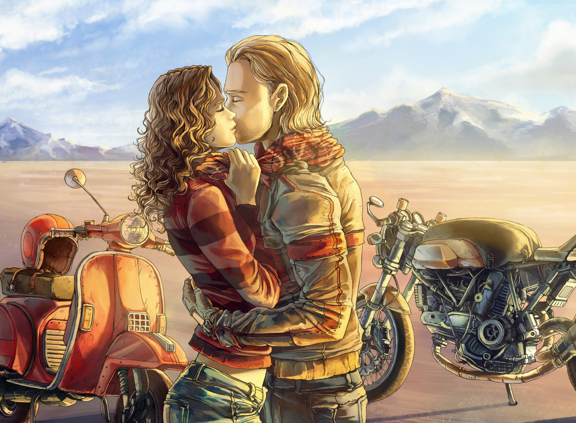 Bikerkiss Biker Kiss Wallpaper for