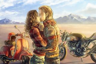 Biker Kiss - Obrázkek zdarma pro 220x176