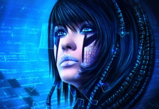 Sci-Fi Portrait - Obrázkek zdarma pro LG Optimus M