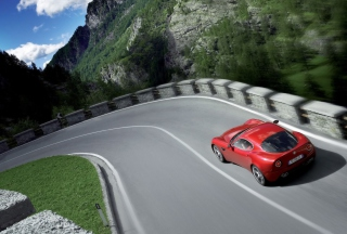 Red Alfa Romeo - Obrázkek zdarma pro 1200x1024