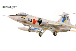 F 104J Starfighter Plastic Model Picture for Android, iPhone and iPad
