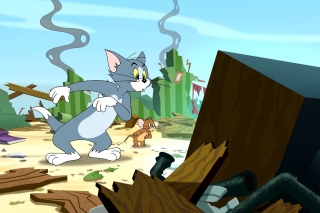 Tom and Jerry Fast and the Furry - Obrázkek zdarma pro Samsung Galaxy Nexus