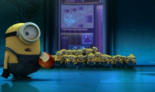 Free Minion's Apple Picture for Android, iPhone and iPad
